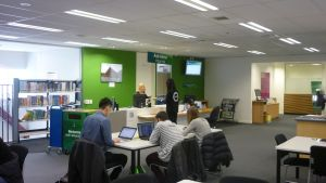 Wait&#257kere level 3 lending desk - click for more photos.