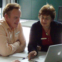 Information librarians at a web 2 workshop.