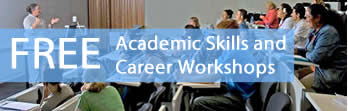 Book an seat in an Academic Skills or Career Workshop